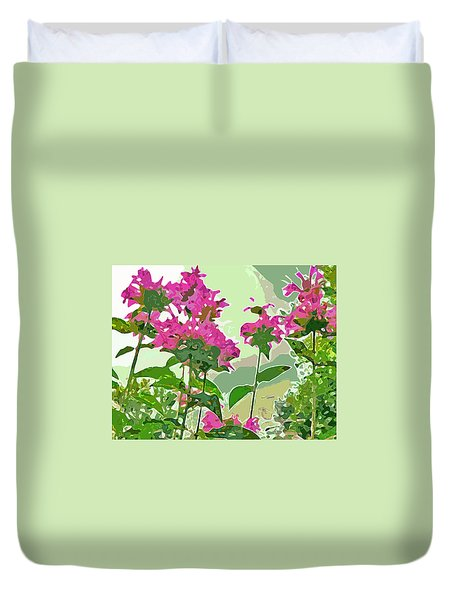 Bee Balm Duvet Cover by Jean Hall