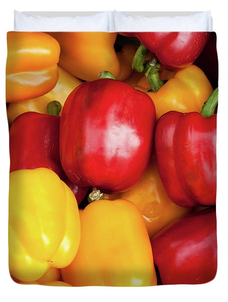 Bell Peppers Duvet Cover by Rick Piper Photography
