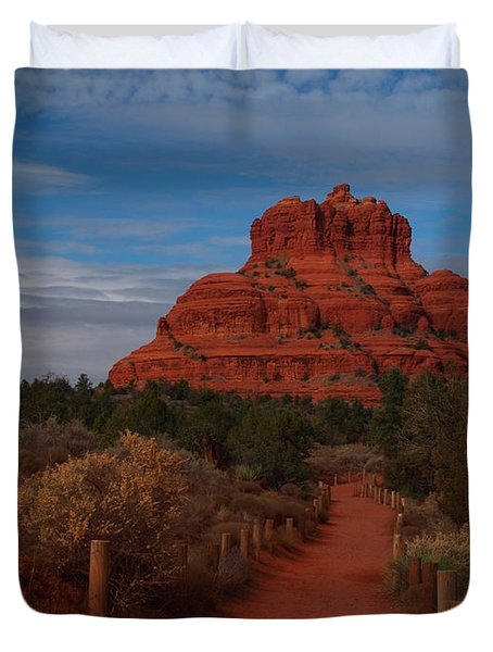 Bell Rock Duvet Cover by James Peterson