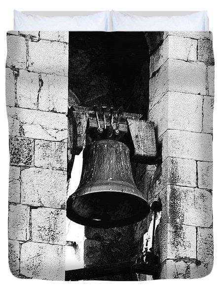 Bell Tower Valbonne Abbey Duvet Cover by Christine Till