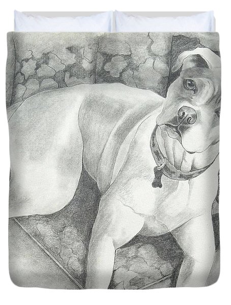 Bella My Pup Duvet Cover by Joette Snyder