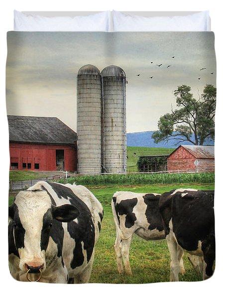 Belleville Amish Farm Duvet Cover by Lori Deiter