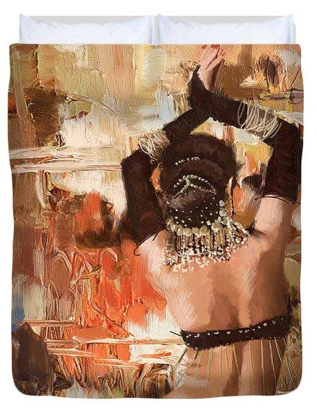 Belly Dancer Back Duvet Cover by Corporate Art Task Force