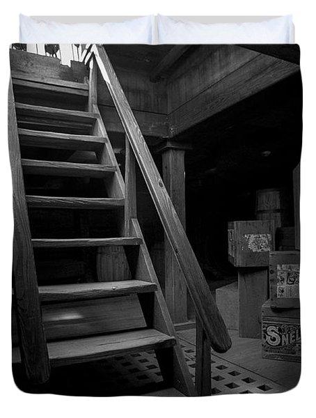 Below Deck - Charles W Morgan Whaling Ship Duvet Cover by Gary Heller