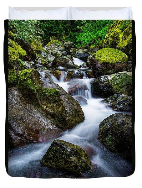 Below Rainier Duvet Cover by Chad Dutson