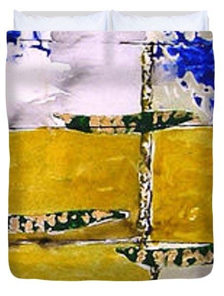 Ben And Jewel Panel 3 Duvet Cover by Sandra Gail Teichmann-Hillesheim