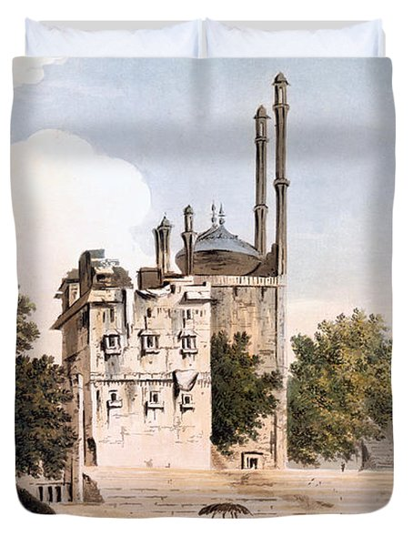 Benares On The Ganges Duvet Cover by William Hodges