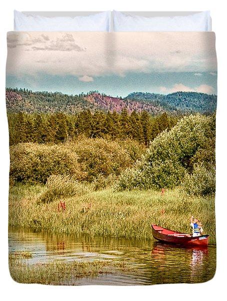 Bend/sunriver Thousand Trails Duvet Cover by Bob and Nadine Johnston
