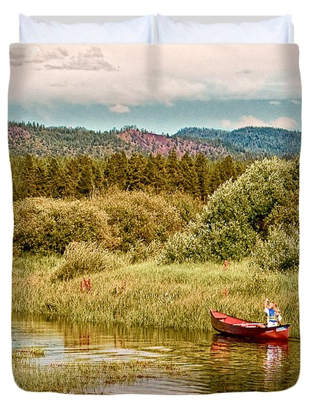 Bend/Sunriver Thousand Trails Duvet Cover by  Bob and Nadine Johnston