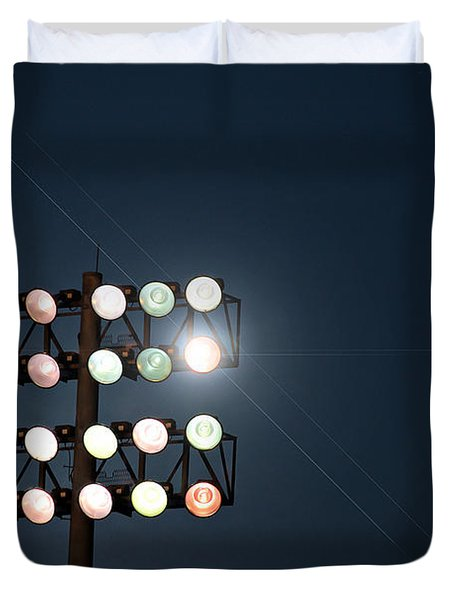Beneath Friday Night Lights Duvet Cover by Trish Mistric