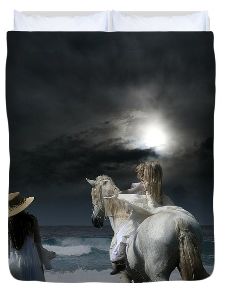 Beneath the illusion in Colour Duvet Cover by Sharon Mau