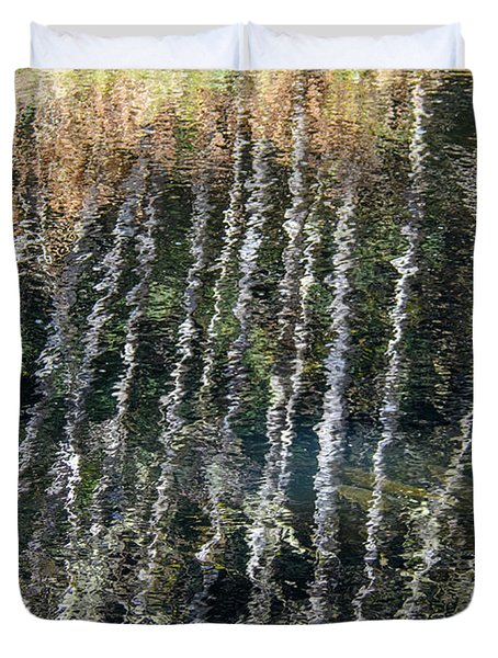 Beneath The Reflection Duvet Cover by Roxy Hurtubise