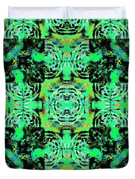 Bengal Tiger Abstract 20130205m180 Duvet Cover by Wingsdomain Art and Photography