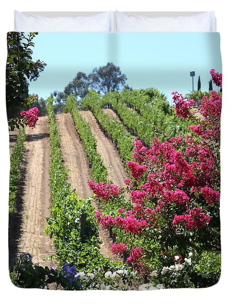 Benziger Winery In The Sonoma California Wine Country 5d24495 Vertical Duvet Cover by Wingsdomain Art and Photography