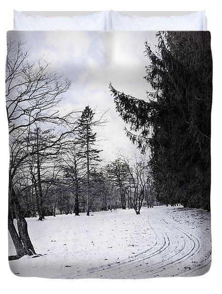 Berkshires Winter 9 - Massachusetts Duvet Cover by Madeline Ellis