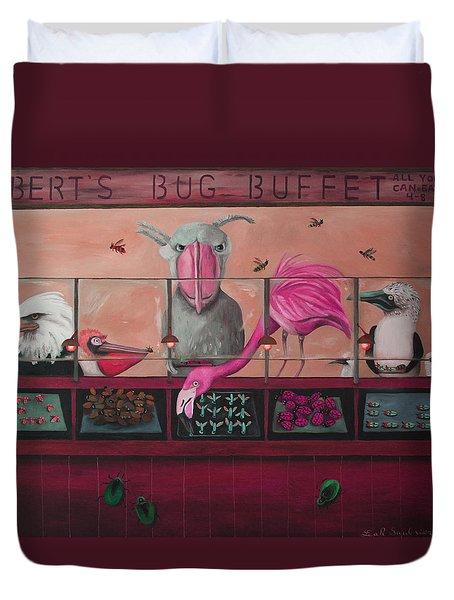 Bert's Bug Buffet Edit 2 Duvet Cover by Leah Saulnier The Painting Maniac