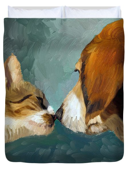 Best Friends Duvet Cover by Angela A Stanton