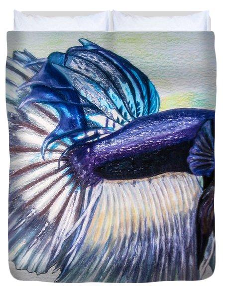 Betta Fish Duvet Cover by Zina Stromberg