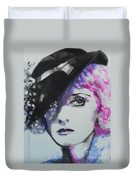 Bette Davis 02 Duvet Cover by Chrisann Ellis