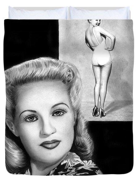 Betty Grable Duvet Cover by Peter Piatt