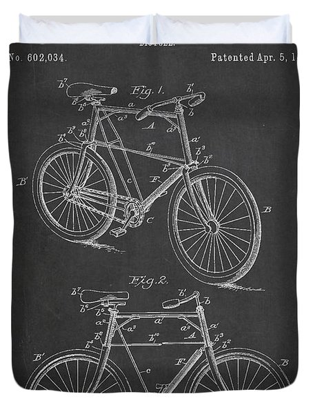 Bicycle Patent Duvet Cover by Aged Pixel