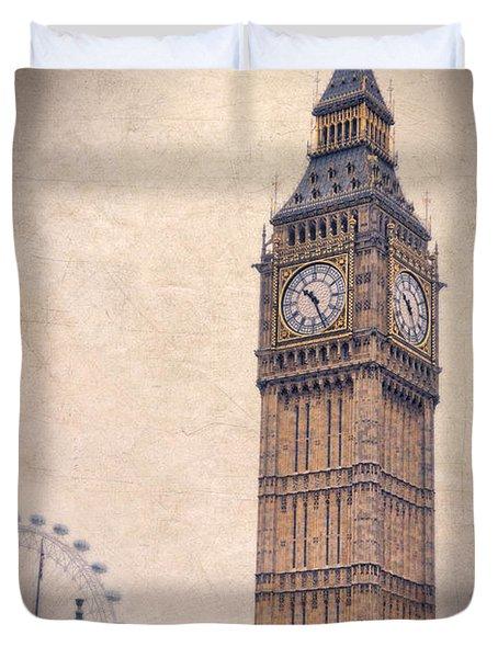 Big Ben In London Duvet Cover by Jill Battaglia
