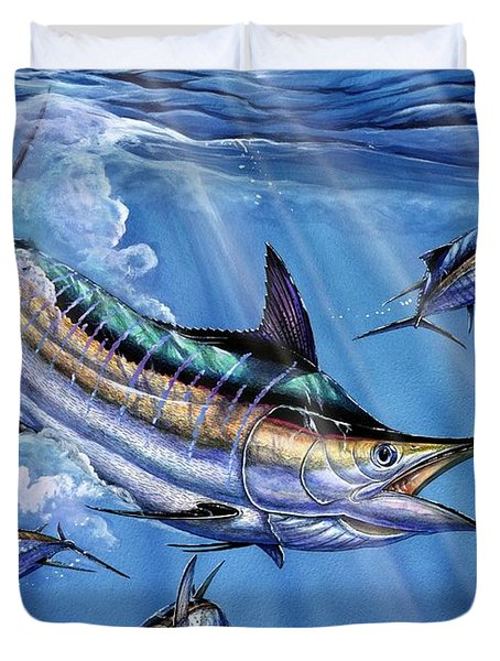 Big Blue And Tuna Duvet Cover by Terry Fox