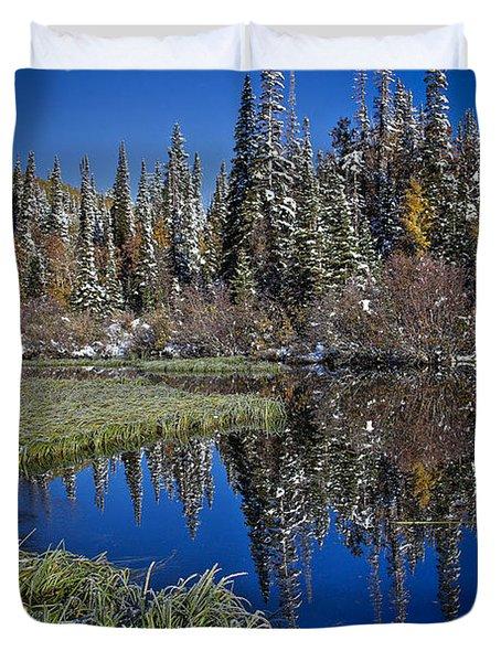 Big Cottonwood Canyon  Duvet Cover by Richard Cheski