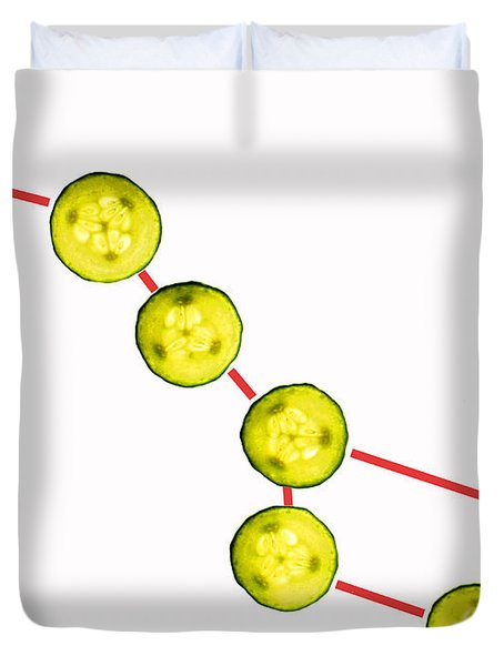 Big Dipper Composed By Cucumber Slices Food Art Duvet Cover by Paul Ge