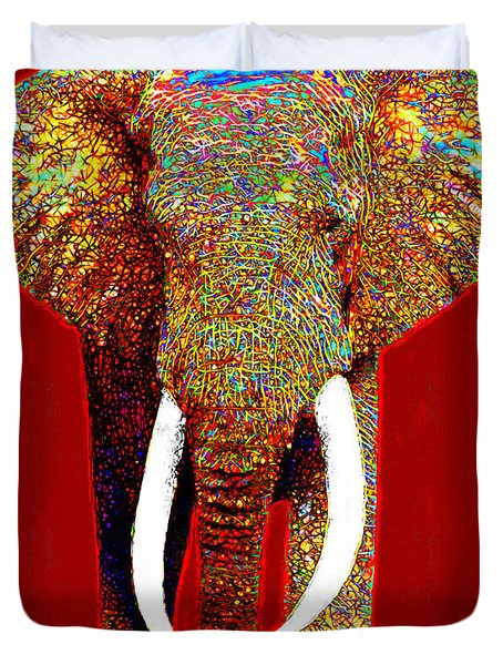 Big Elephant 20130201p0 Duvet Cover by Wingsdomain Art and Photography