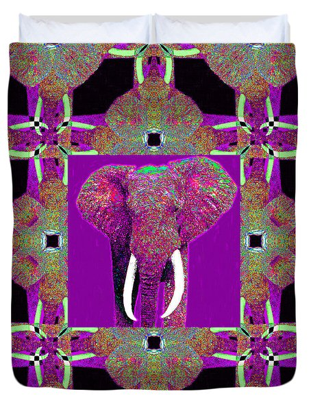 Big Elephant Abstract Window 20130201m68 Duvet Cover by Wingsdomain Art and Photography