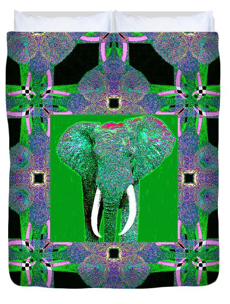 Big Elephant Abstract Window 20130201p128 Duvet Cover by Wingsdomain Art and Photography