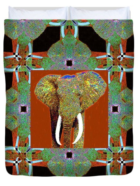 Big Elephant Abstract Window 20130201p20 Duvet Cover by Wingsdomain Art and Photography