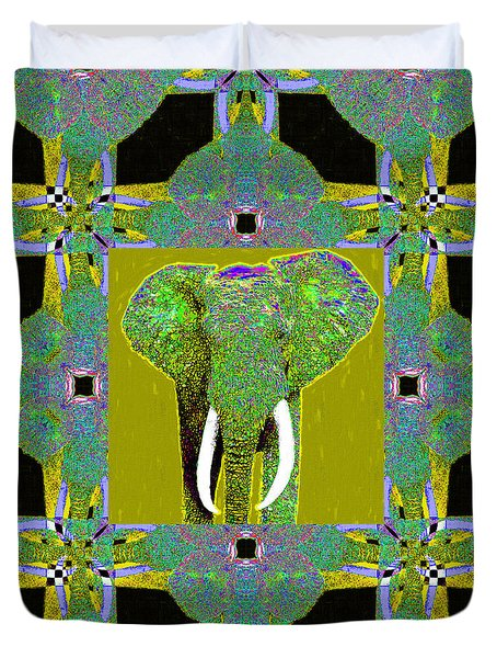 Big Elephant Abstract Window 20130201p60 Duvet Cover by Wingsdomain Art and Photography