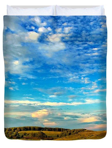 Big Sky Ontario Duvet Cover by Steve Harrington