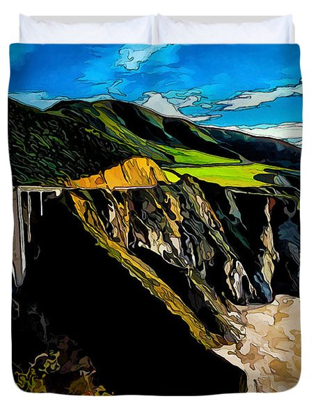 Big Sur Bridge Duvet Cover by Bill Caldwell -        ABeautifulSky Photography