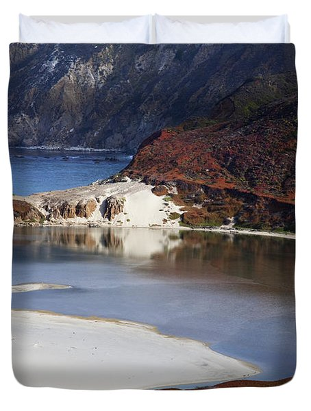 Big Sur Coastal Pond Duvet Cover by Jenna Szerlag
