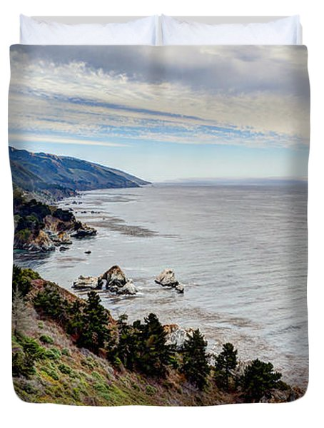 Big Sur Serenity  Duvet Cover by Heidi Smith