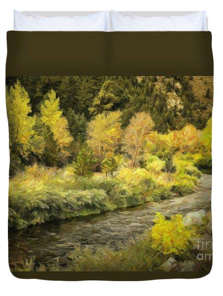 Big Thompson River 4 Duvet Cover by Jon Burch Photography