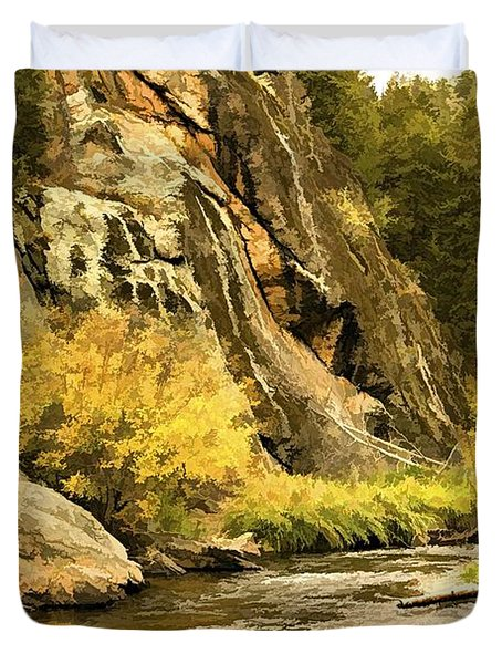 Big Thompson River 5 Duvet Cover by Jon Burch Photography