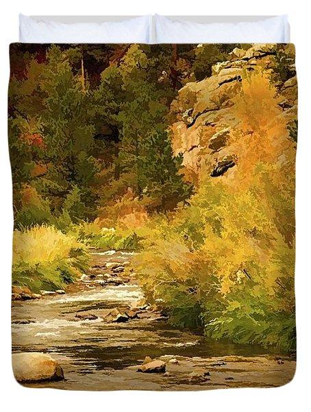 Big Thompson River 8 Duvet Cover by Jon Burch Photography
