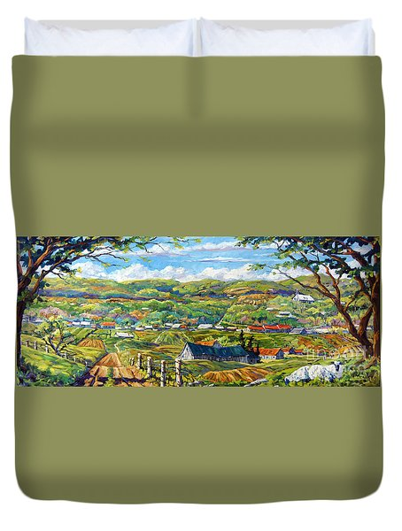 Big Valley By Prankearts Duvet Cover by Richard T Pranke