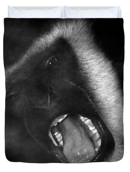 Big Yawn From This Monkey Duvet Cover by Thomas Woolworth