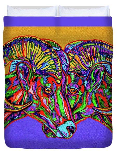Bighorn Sheep Duvet Cover by Derrick Higgins