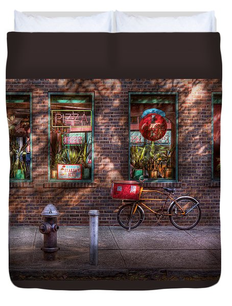 Bike - Ny - Chelsea - The Delivery Bike Duvet Cover by Mike Savad