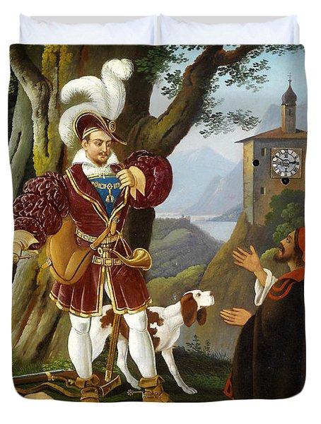 Bilderuhr Maximilian I Mit Den Raubern Duvet Cover by MotionAge Designs