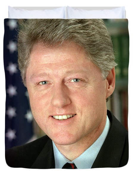 Bill Clinton Duvet Cover by Nomad Art And  Design