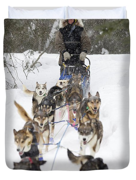 Bill Pinkham On The Trail In A Heavy Duvet Cover by Jeff Schultz
