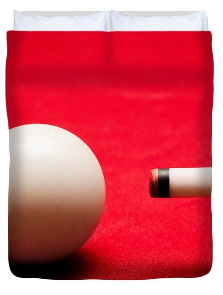 Billards Pool Game Duvet Cover by Michal Bednarek