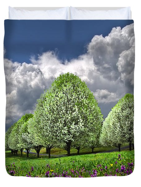 Billows Duvet Cover by Debra and Dave Vanderlaan